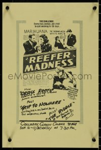 8p0246 REEFER MADNESS Aust special poster R1970s teens & marijuana are youthful marihuana victims!