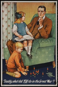 8p0179 DADDY WHAT DID YOU DO IN THE GREAT WAR 20x30 English commercial 1969 from 1915 WWI poster!