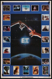 8p0180 E.T. THE EXTRA TERRESTRIAL 23x35 commercial poster 1982 Barrymore, Spielberg, great images!