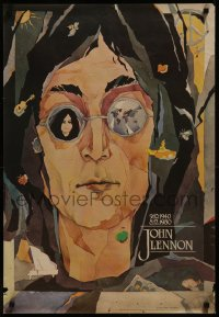 8p0189 JOHN LENNON 23x33 Estonian commercial poster 1990 great close-up art by Piret Selberg!