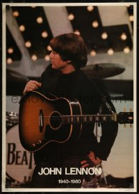 8p0188 JOHN LENNON 20x28 commercial poster 1980 great image of with guitar on stage!