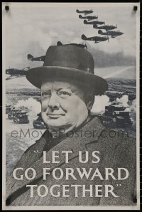 8p0191 LET US GO FORWARD TOGETHER 20x30 English commercial poster 1969 image of leader, battlefield!