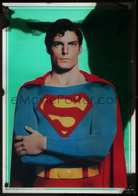 8p0199 SUPERMAN group of 2 foil 21x30 commercial posters 1978 Christopher Reeve, top cast!