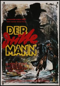 8p0201 THIRD MAN 27x39 German commercial poster 1980s different art by Hans Otto Wendt!