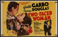 8p0204 TWO-FACED WOMAN 23x35 commercial poster 1971 go gay with Greta Garbo & Melvyn Douglas!