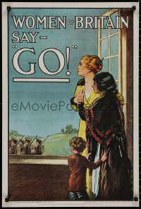 8p0206 WOMEN OF BRITAIN SAY GO 20x30 English commercial poster 1969 reprint of 1915 poster by Kealey!