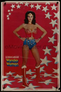 8p0207 WONDER WOMAN 23x35 commercial poster 1977 classic sexy Lynda Carter in costume!