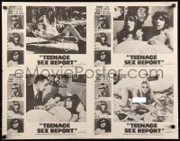 8p0236 TEENAGE SEX REPORT 4 uncut LCs 1973 Girls at the Gynecologist, 5 sexual experiences!