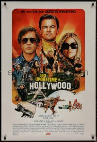 8p1086 ONCE UPON A TIME IN HOLLYWOOD advance DS 1sh 2019 Tarantino, Steve Chorney art, with rating!