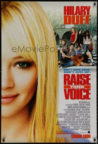 8p1124 RAISE YOUR VOICE advance 1sh 2004 Hilary Duff, Rita Wilson, Keith, Don't hold back or give up!