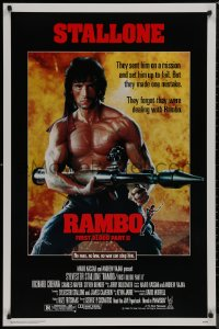 8p1125 RAMBO FIRST BLOOD PART II 1sh 1985 no law, no war can stop Sylvester Stallone w/his RPG!