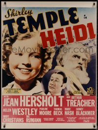 8p0216 HEIDI 30x40 REPRO poster 1980s Shirley Temple & grandpa Jean Hersholt, image from window card!