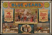 8p0114 BLUE JEANS 29x43 stage poster 1890 Joseph Arthur, cool stage play scene montage!