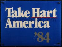 8p0213 GARY HART 21x28 political campaign 1984 running for United States Senate in Colorado!