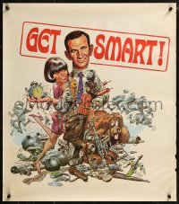 8p0214 GET SMART tv poster 1960s Jack Davis art of Don Adams, sexy Barbara Feldon!