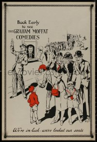 8p0215 GRAHAM MOFFAT COMEDIES 21x31 English stage poster 1910s artwork of theater line by Willis!