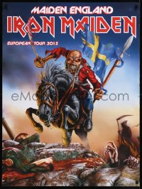 8p0218 IRON MAIDEN 29x38 music poster 2013 Maiden England European Tour, Riggs art of Eddie!