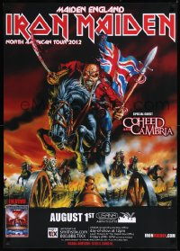 8p0217 IRON MAIDEN 28x39 music poster 2012 Maiden England North American Tour, Riggs art of Eddie!