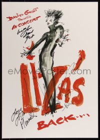 8p0222 LIZA MINNELLI signed 17x23 music poster 1987 by BOTH Liza Minnelli AND David Gest, cool art!