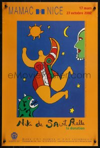 8p0226 NIKI DE SAINT PHALLE LA DONATION 16x24 French art exhibition 2002 woman, monster, more!