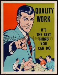 8p0100 QUALITY WORK 17x22 motivational poster 1960s it's the best thing you can do!