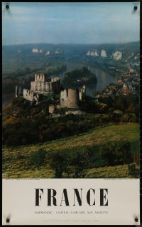 8p0039 FRANCE 24x39 French travel poster 1954 great images of the Chateau-Gaillard and town!