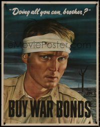 8p0019 DOING ALL YOU CAN BROTHER 22x28 WWII war poster 1943 Sloan art of wounded soldier!