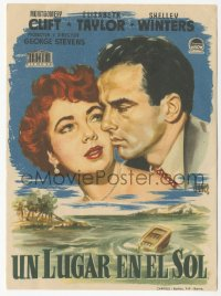 8r1074 PLACE IN THE SUN green title Spanish herald 1952 Montgomery Clift & Elizabeth Taylor, rare!