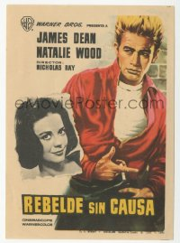 8r1088 REBEL WITHOUT A CAUSE Spanish herald 1964 different MCP art of James Dean, Natalie Wood!