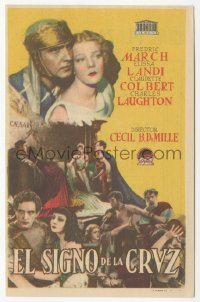 8r1119 SIGN OF THE CROSS Spanish herald R1940s DeMille, Fredric March, Elissa Landi, different!