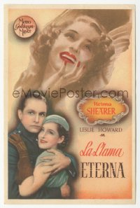 8r1124 SMILIN' THROUGH Spanish herald 1934 different image of Norma Shearer & Fredric March, rare!