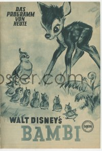 8r0017 BAMBI Austrian program 1950 Walt Disney classic, many completely different cartoon images!