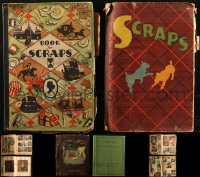 8s0032 LOT OF 4 SCRAPBOOKS 1930s-1940s many magazine & newspaper clippings with movie images!