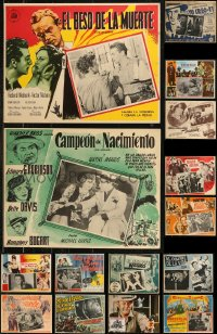 8s0040 LOT OF 25 MEXICAN LOBBY CARDS 1940s-1970s great scenes from a variety of different movies!