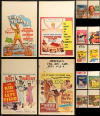 8s0043 LOT OF 14 WINDOW CARDS 1950s great images from a variety of different movies!
