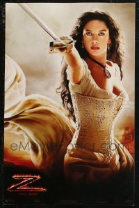 8s0027 LOT OF 56 UNFOLDED LEGEND OF ZORRO 11X17 MINI POSTERS 2005 sexy Catherine Zeta-Jones!
