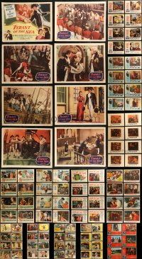 8s0170 LOT OF 118 LOBBY CARDS 1950s mostly complete sets from a variety of different movies!