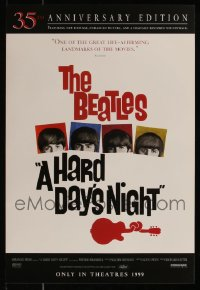 8s0025 LOT OF 166 UNFOLDED R99 HARD DAY'S NIGHT 14X20 MINI POSTERS 1999 35th anniversary edition!
