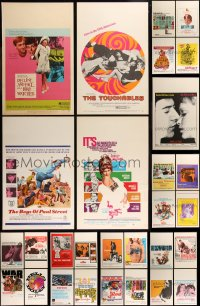 8s0042 LOT OF 29 WINDOW CARDS 1960s great images from a variety of different movies!