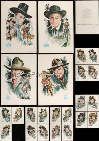 8s0029 LOT OF 23 UNFOLDED COWBOY KINGS OF WESTERN FAME 11X16 SPECIAL POSTERS 1973 John Wayne & more!