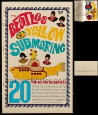 8s0028 LOT OF 4 BEATLES YELLOW SUBMARINE POP-OUT ART DECORATION BOOKS 1968 21 perforated images!