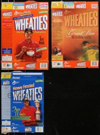8s0033 LOT OF 3 TIGER WOODS WHEATIES CEREAL BOXES 1999-2002 great images of the golf champion!