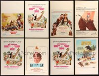 8s0044 LOT OF 12 WINDOW CARDS 1950s-1970s great images from a variety of different movies!