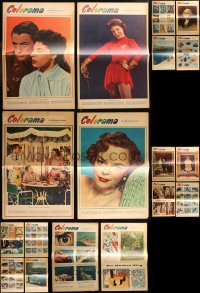 8s0037 LOT OF 18 COLORAMA NEWSPAPER SUPPLEMENTS 1954 from the Philadelphia Inquirer!