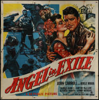 8t0030 ANGEL IN EXILE 6sh 1948 John Carroll, Adele Mara, bullets couldn't stop him, cool art, rare!