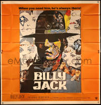 8t0033 BILLY JACK int'l 6sh 1971 best completely different art of Tom Laughlin by Ermanno Iaia!