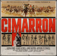 8t0037 CIMARRON 6sh 1960 directed by Anthony Mann, Glenn Ford, Maria Schell, cool artwork!
