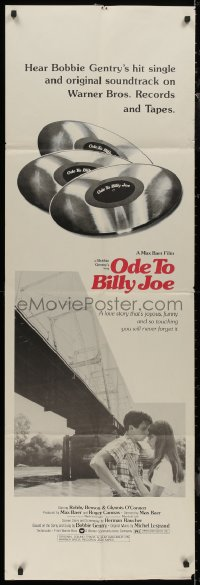 8t0017 ODE TO BILLY JOE door panel 1976 Robby Benson, Glynnis O'Connor, hear the soundtrack records!