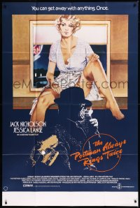 8t0024 POSTMAN ALWAYS RINGS TWICE English 40x60 1981 different art of Nicholson & Jessica Lange!