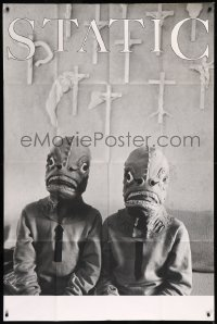 8t0025 STATIC English 40x60 1986 wacky image of two guys in lizard monster costumes!